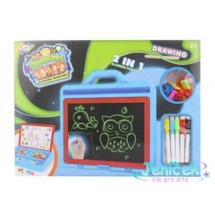 Kreslící a magnetická tabulka 2v1