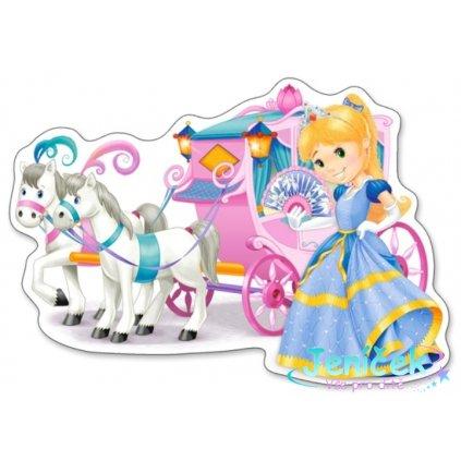 Castorland Puzzle Princess Carriage - 12 dílků