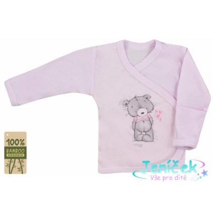 Koala Baby zavinovací košilka bambus Tommy - růžová 68 vyp