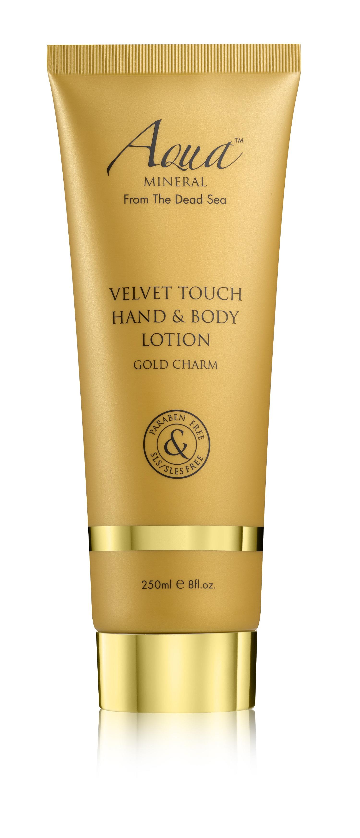 Levně Aqua Mineral Velvet Touch Hand & Body Lotion Gold Chram 250ml