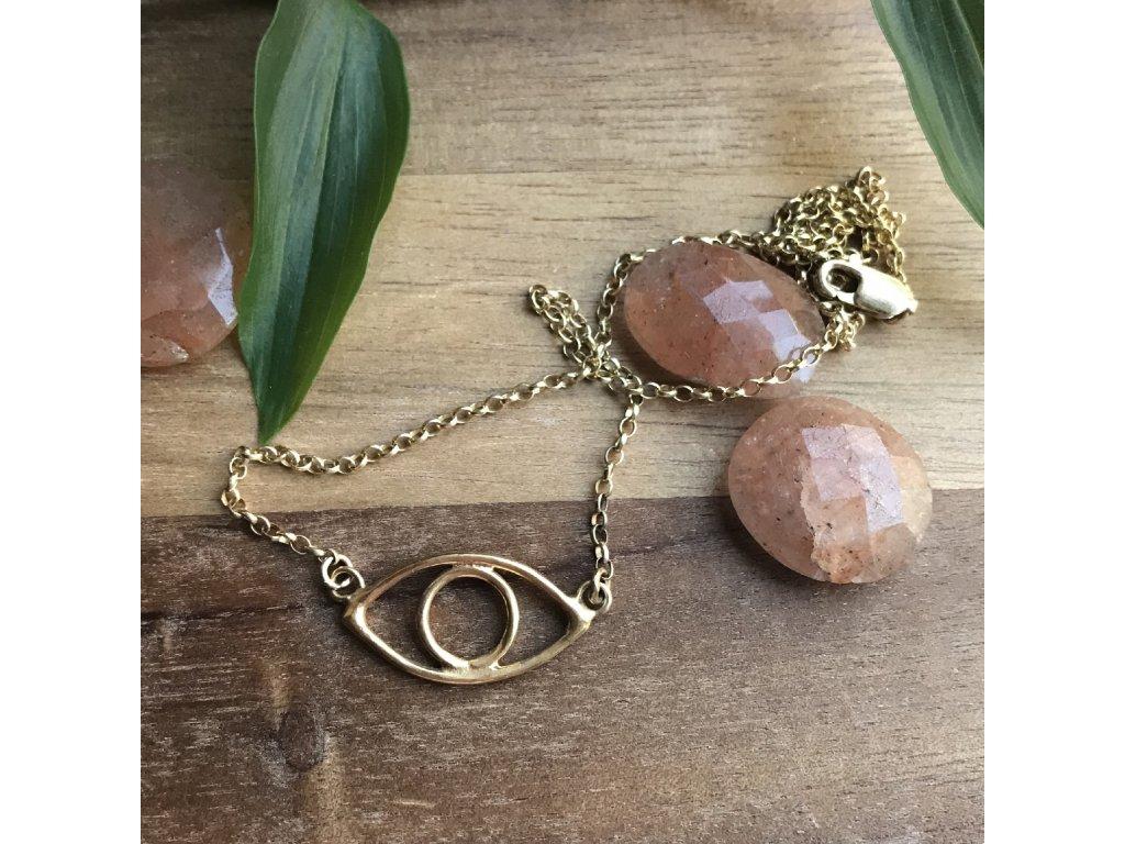 Pozlacený náhrdelník OKO