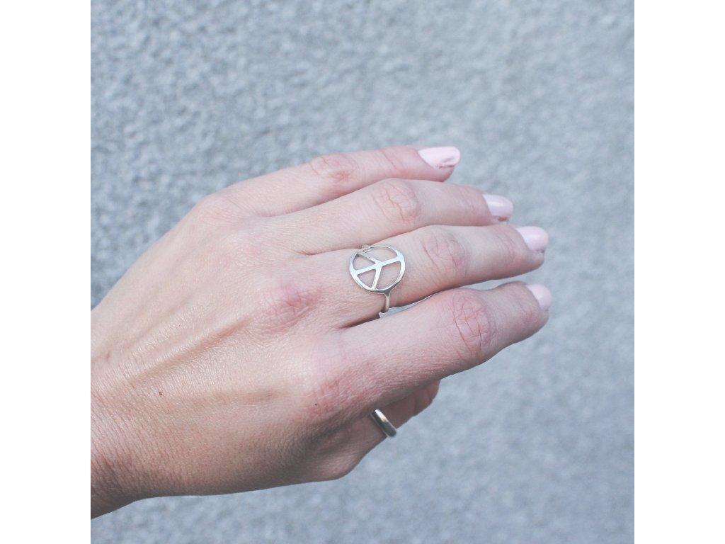 Geometrický prsten PEACE