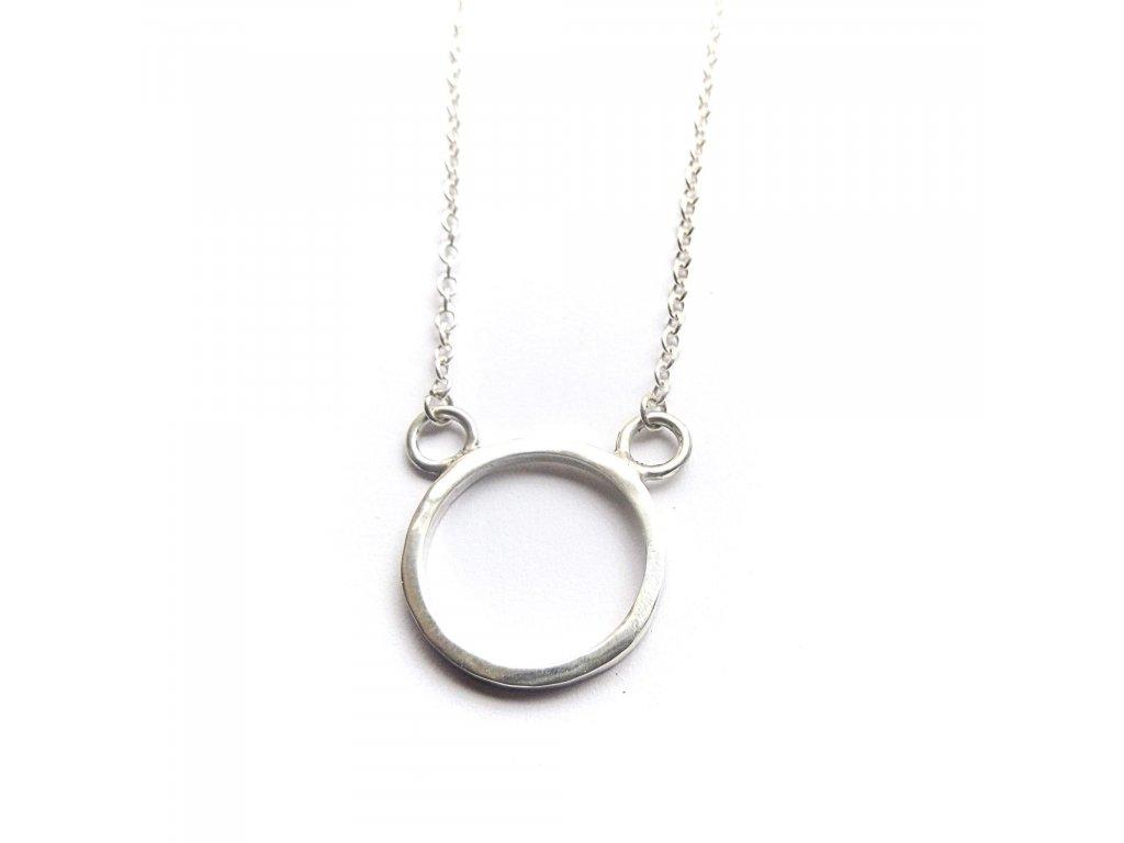 Stříbrný náhrdelník 'Karma'