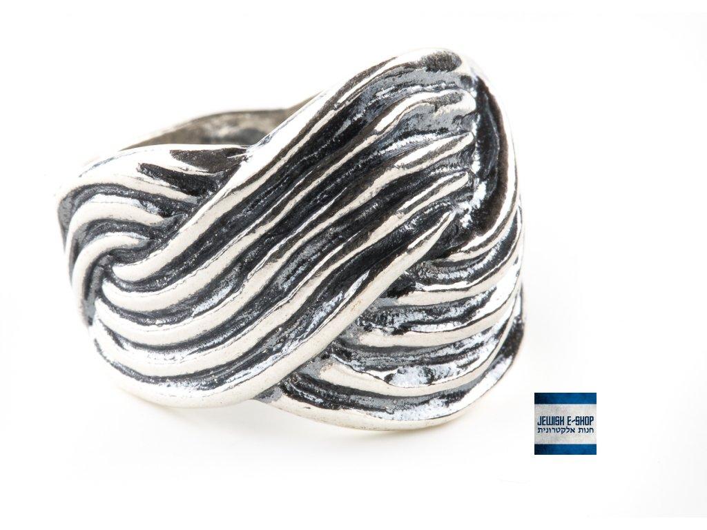 Prsteny celostříbrné