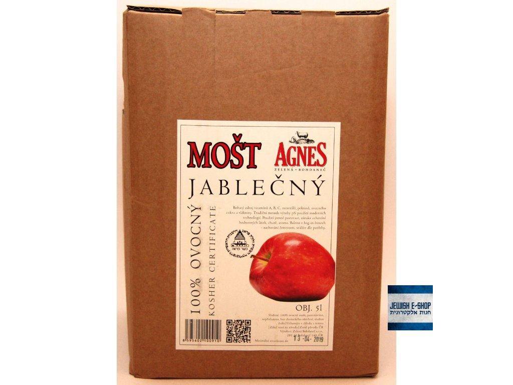 Kosher 100% jablečný mošt 5l