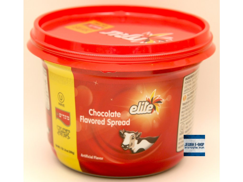 Kosher čokoládová pomazánka Elite z Izraele 500g - 100% kosher a parve