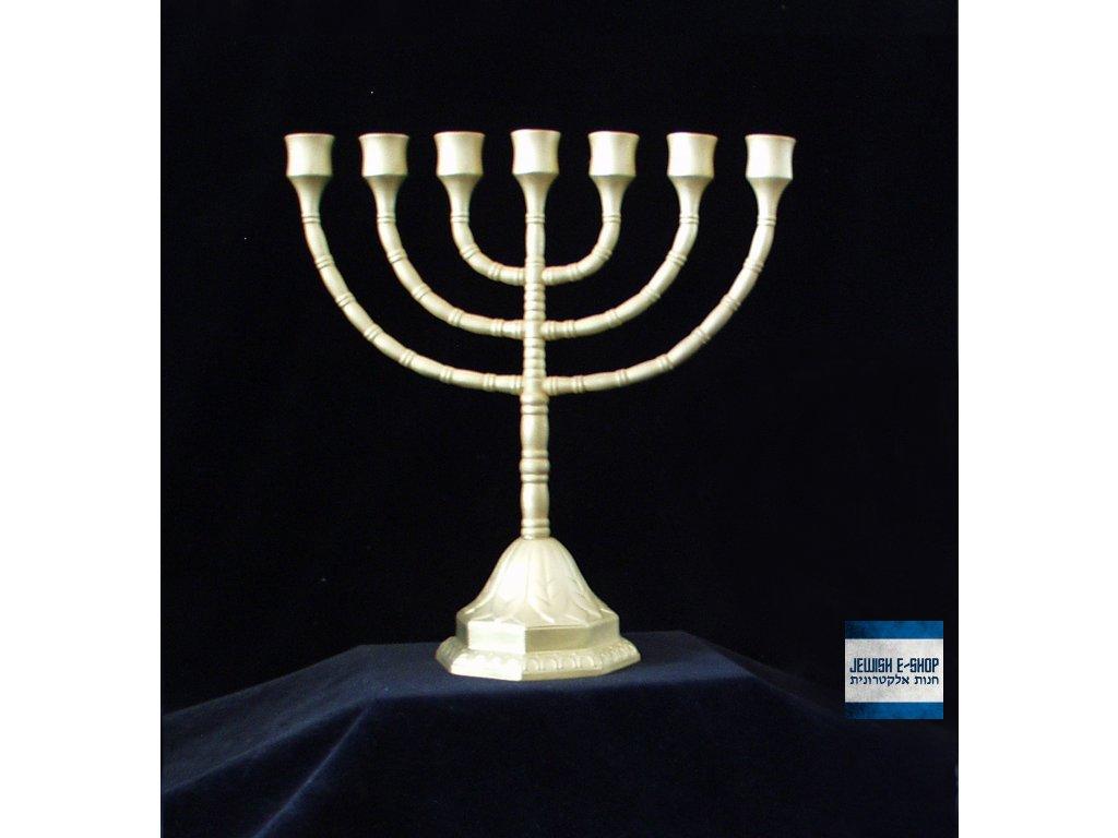 Židovský svícen - MENORA - keramický - zlatý