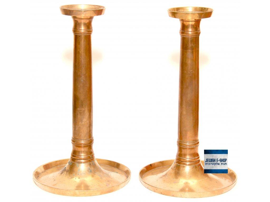 Židovské Šábesové - Šabatové svícny - 22 cm - Biedermeier