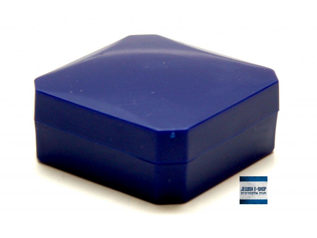 Modrá plastová krabička