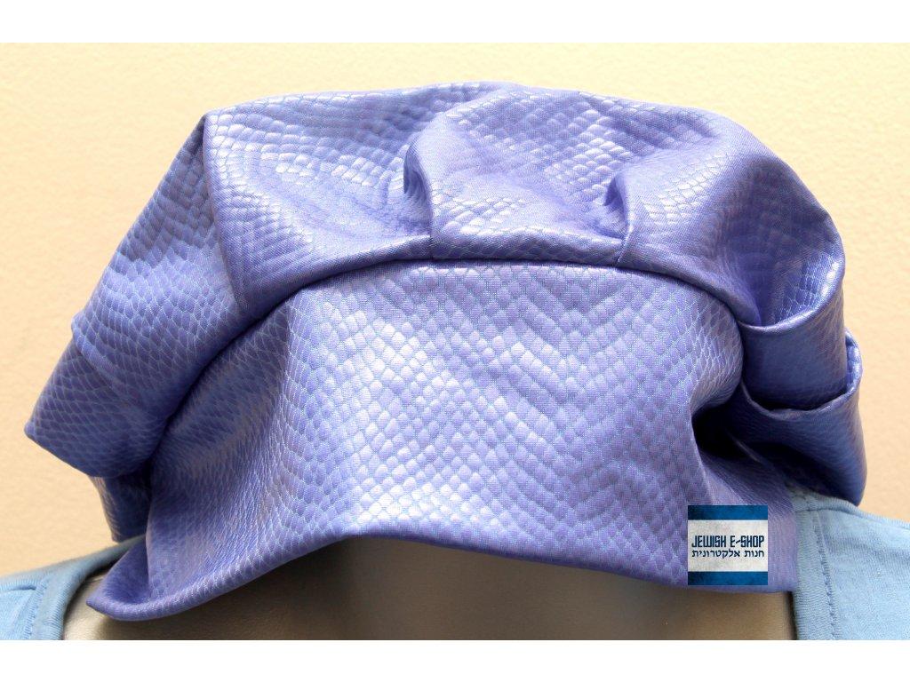 Dámská pokrývka hlavy - Tichel - modrá