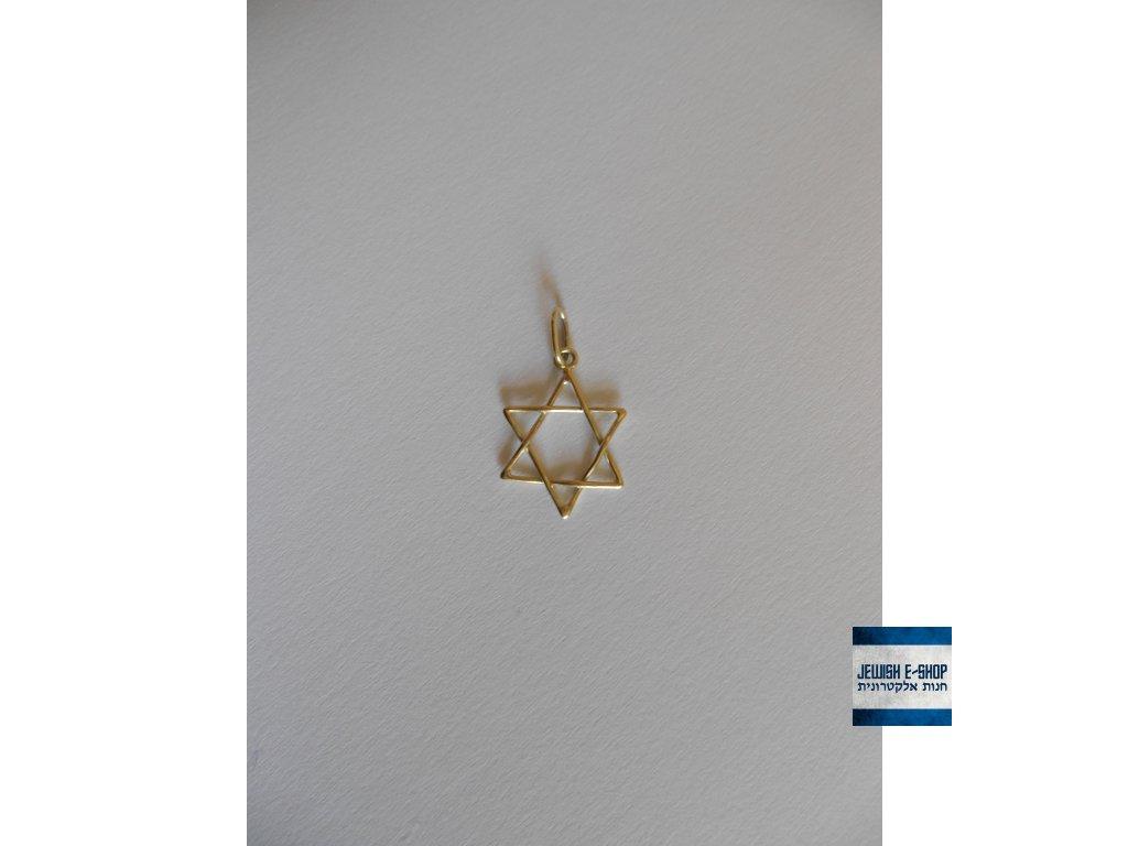 Davidova hvězda zlata 14 k zlato