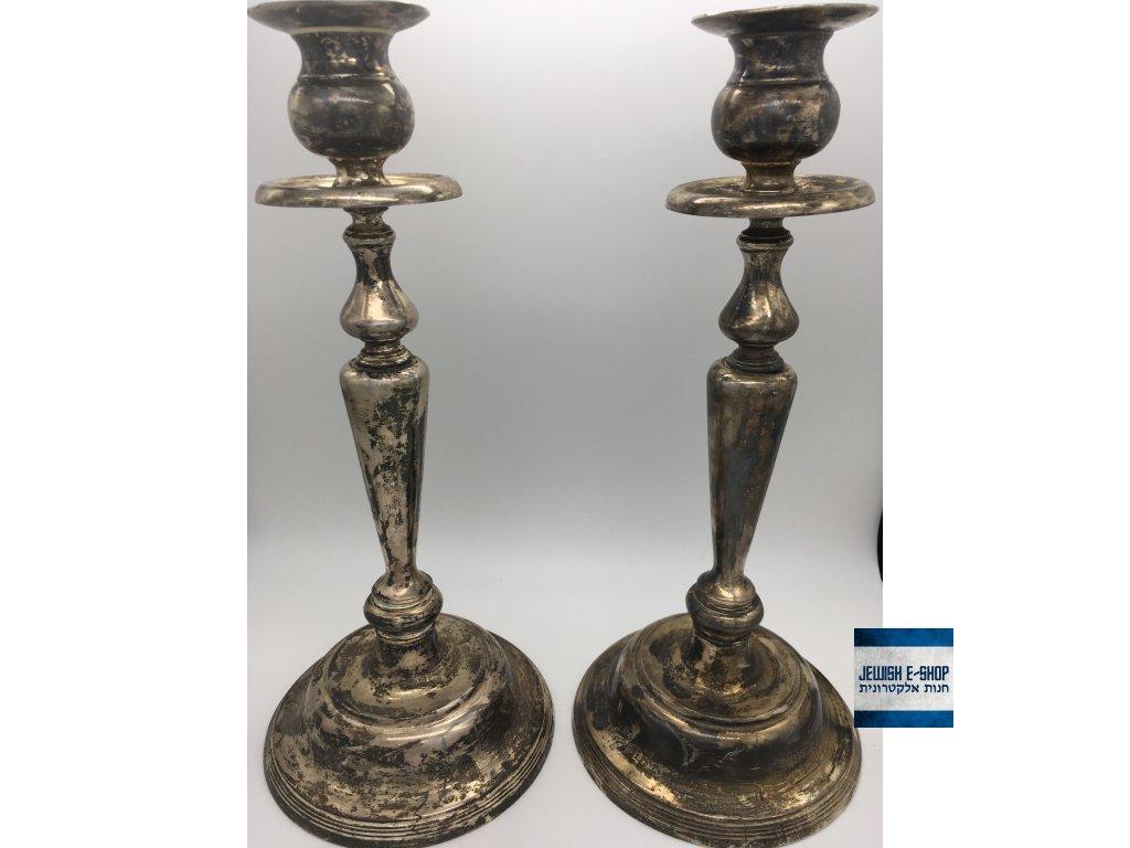 Šábesové - Šabatové svícny - 29 cm - běžný kov - JEWISH E-SHOP 67f5437dbf