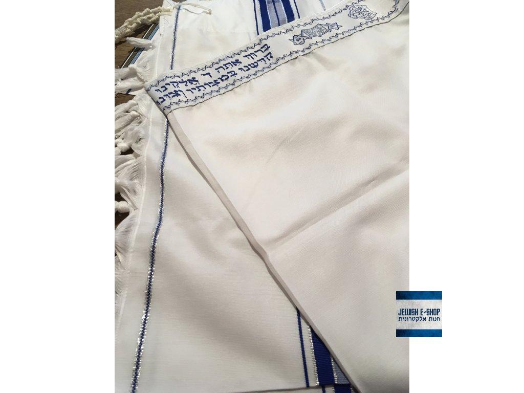 Nový košer - kosher talit (talis) 107 x 160 cm - z IZRAELE - JEWISH ... 397144157b