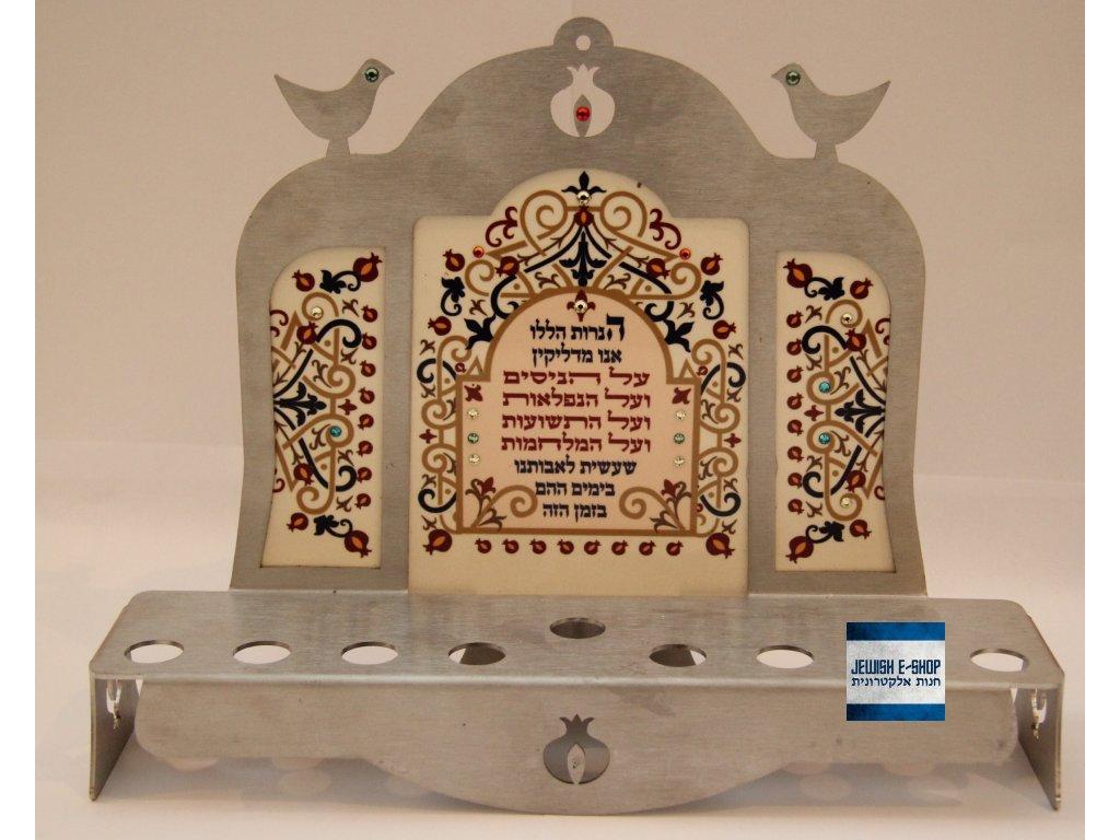 Nová krásná Chanukije z Izraele - lavička