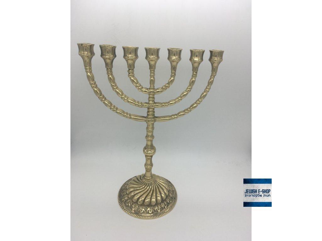 Krásný židovský svícen - MENORA - 23,5 cm