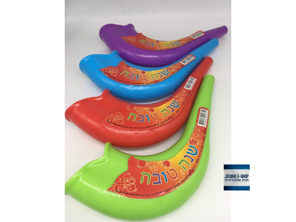 KUP 3 plastové dětské šofary z Izraele a 4 máš ZDARMA - varianta barev