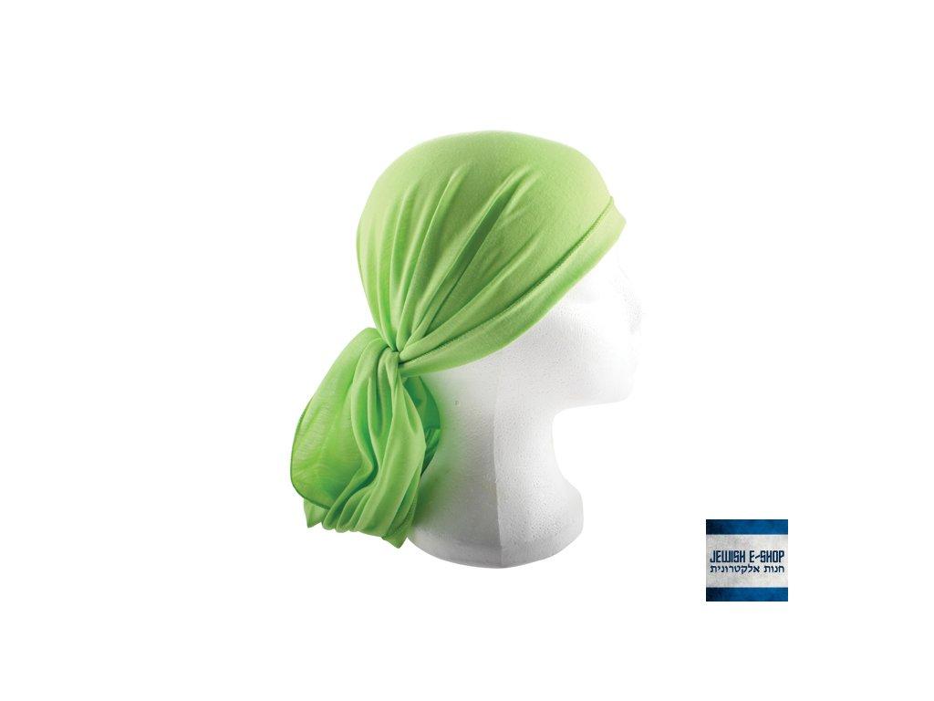 Tichel zelený - 200 x 40 cm