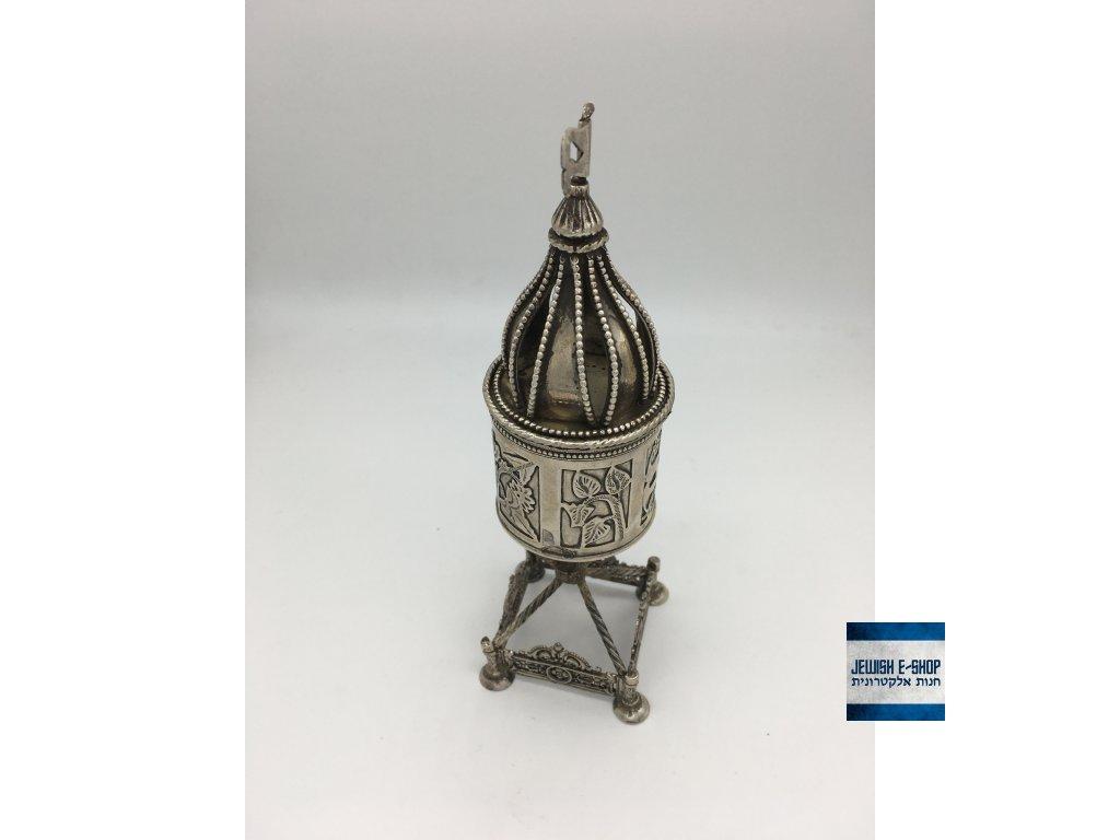 Krásná stříbrná schránka na besmim (koření) na Havdalu