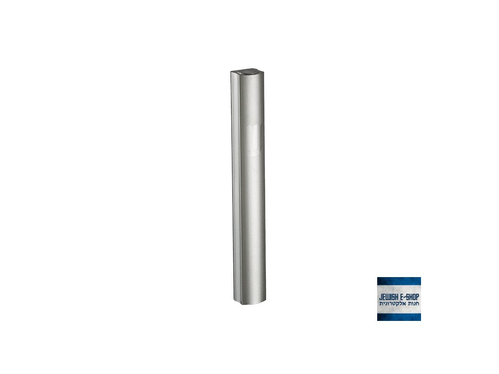 Hliníková mezuza z Izraele, 3D stříbrné provedení, 10 cm