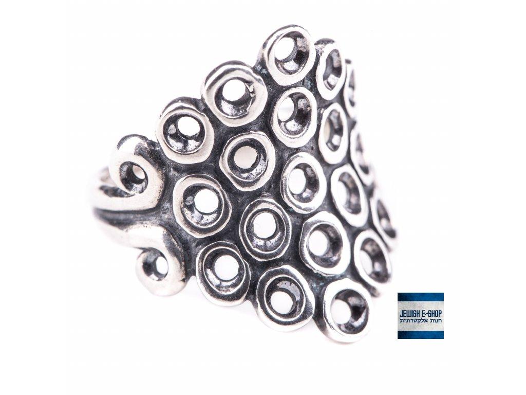 Stříbrný kroužkový prsten - Velikost 8