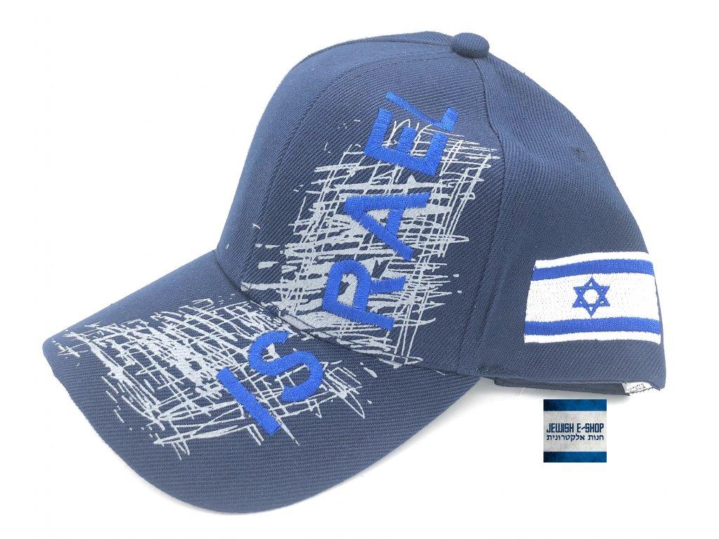 Kšiltovka ISRAEL - Made in Izrael - modrá
