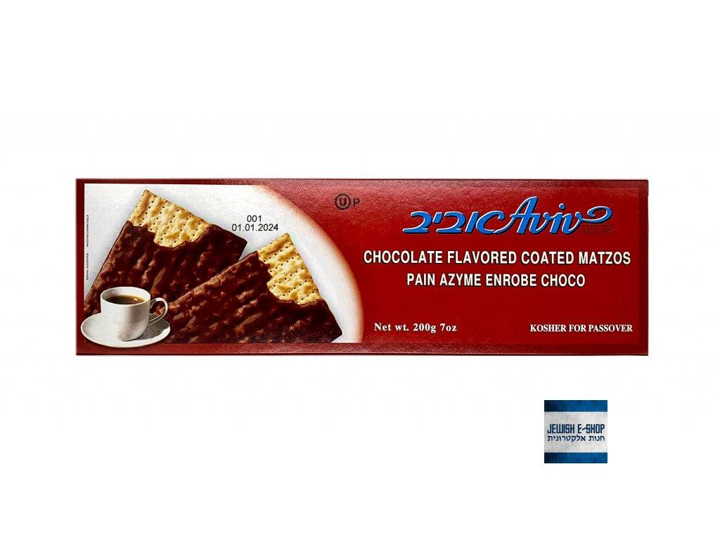 Macesy čokoládové košer na Pesach - AVIV since 1887 - made and packed in Benei-Brak Izrael - 100% KOSHER