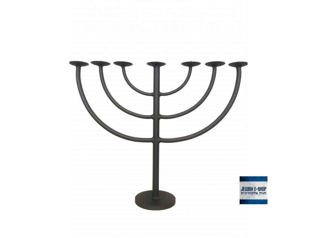 Židovský svícen - kovaná menora - BIG