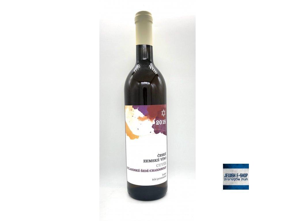 Cuvée - Rulandské šedé/ Chardonnay 2018 - košer víno