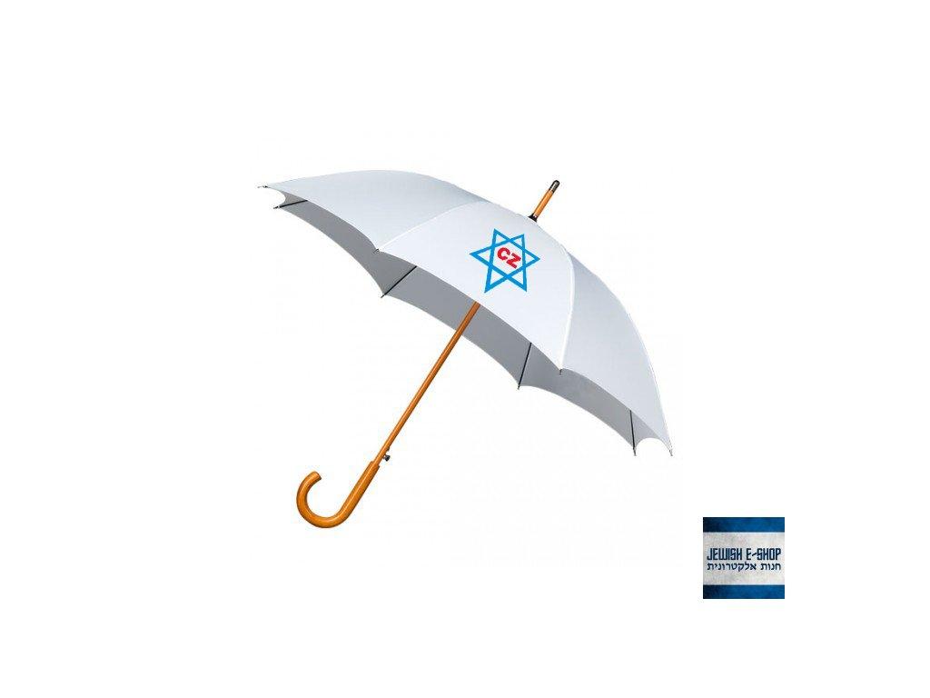 Deštník - Davidova hvězda - WHITE