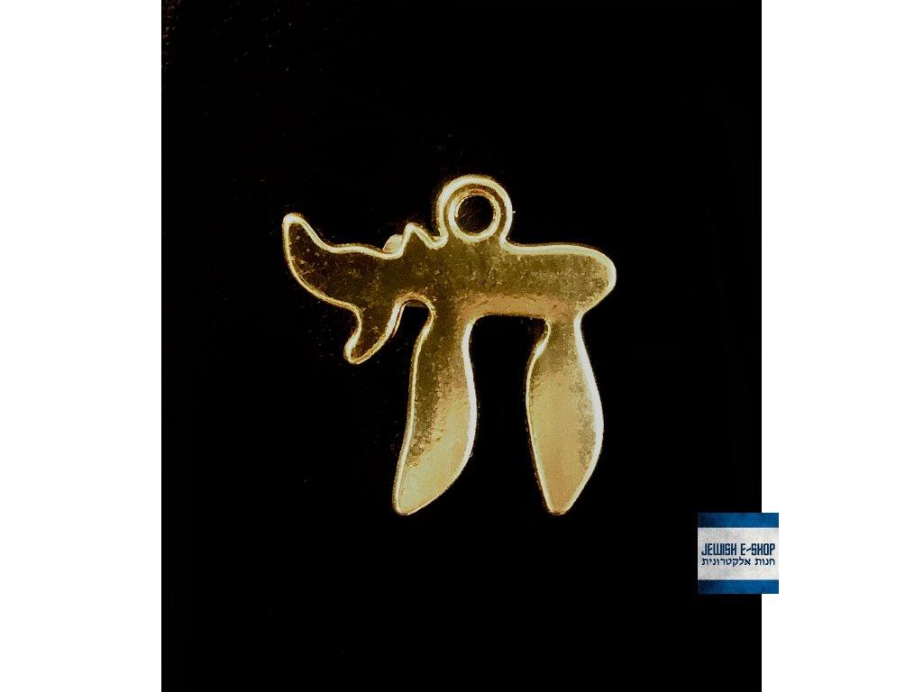 Chaj - zlatý přívěšek bižuterie