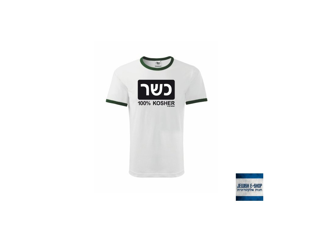 Tričko 100% KOSHER - WHITE