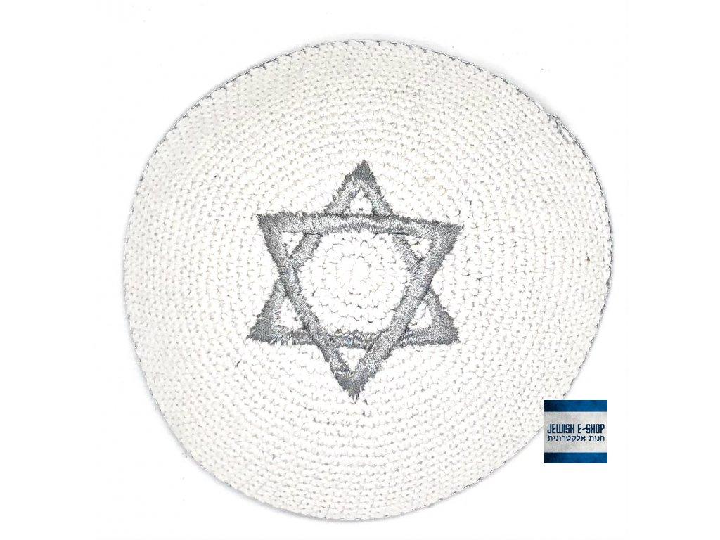 Jarmulka stříbrná - Davidova hvězda