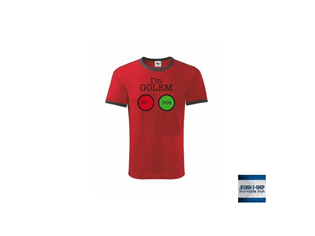 Tričko - GOLEM - RED