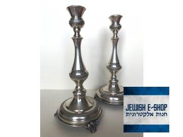 Šábesové svícny stříbrné 925/1000 - 25 cm vysoké, filigrán