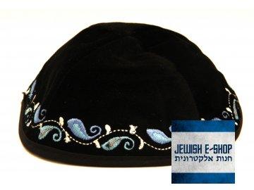 Jarmulka - Kippa elegant blue