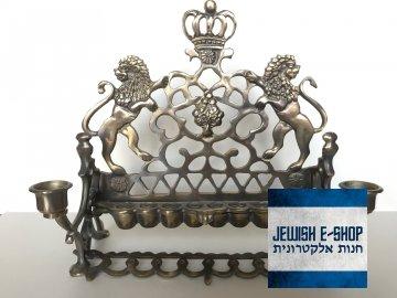 Desetiramenný královský židovský svícen - Chanukija - skvělá Chanuka zajištěna!!