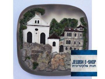 Relief Klausova synagoga bile pozadi 3
