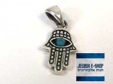 Stříbrný přívěsek Chamsa z Izraele, Ag925/1000, Made in Israel