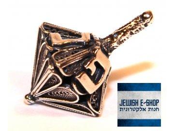 Stříbrný Dreidl - Sevivon z Izraele