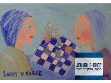 Šachy v lásce - olej na plátně