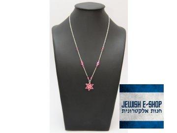 Růžový náhrdelník s hvězdou