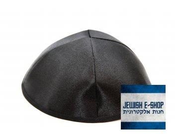 Černá kippa - jarmulka lesklá