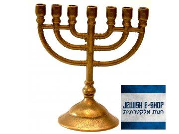 Židovský svícen - Malá Menora - Menorah 12 cm
