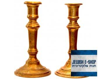 Masivní Šábesové svícny - 20 cm - cena za pár