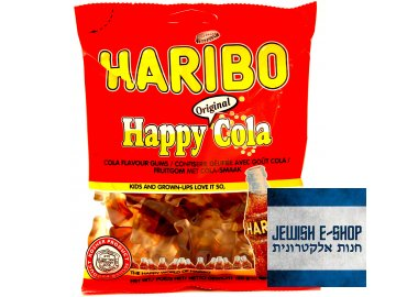 Kosher Haribo Happy Cola - Colové bonbóny 150g