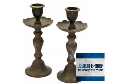 Bronzové Šábesové - Šabatové svícny - 16 cm