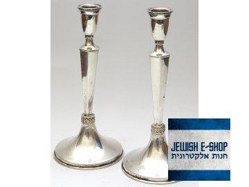 Stříbrné Šábesové - Šabatové svícny - 20 cm - Made in Israel