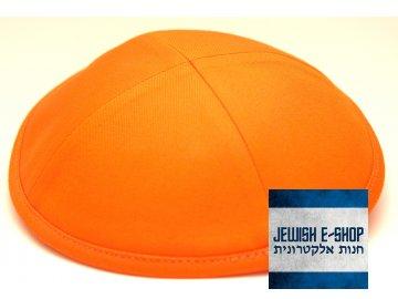Oranžová látková kippa - jarmulka