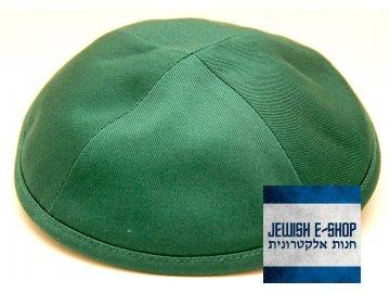 Zelená látková kippa - jarmulka