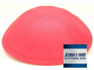 Červená látková kippa - jarmulka